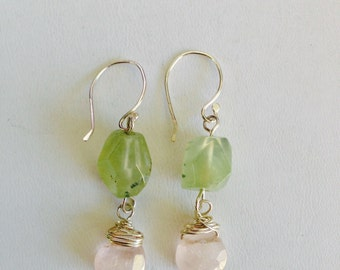 Moss and Rose Earrings