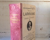 Pink French Book, Nouveau Larousse Illustre', SMALL BOOK, VINTAGE, Larousse Illustrated, Librairie, Old French Dictionary, French Ephemera