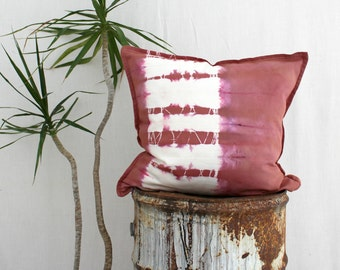 CLAY . tie dye cushion cover . pillow . throw cushion . decorative pillow . throw pillow . mushroom . boho gypsy hippy hippie tribal chic