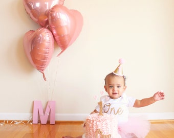 Pink and Gold First Birthday Outfit Girl, 1st Birthday Outfit, Cake Smash Outfit, First Birthday Outfit, 1st Birthday Tutu, SEWN Tutu