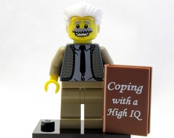 EINSTEIN Custom Figure Crafted With LEGO® Elements *SALE* Keychain or Necklace Options!