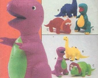 Barney Dinosaur Knitting Pattern : Bunny rabbit and bear soft toy / stuffed animal doll PDF sewing pattern, tuto...