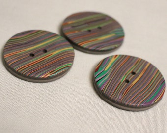 Multi-Colored Striped Buttons No. 299