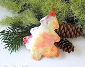 Copper Christmas Tree. Christmas Ornament. Rustic Primitive Metal. Holiday Decoration. Woodland Xmas Tree. Eco Friendly Holiday Decor