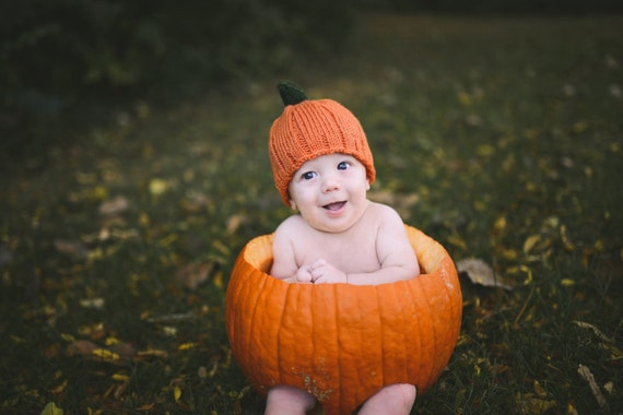 Pumpkin Hat Kids Costume Leaves baby preemie newborn toddler 3 6 9 12 18 months child teen adult Thanksgiving Halloween