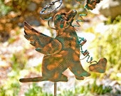 Labrador Retriever Angel Garden Stake / Pet Memorial / Metal Garden Art / Copper Art / Yard Art  / Dog Memorial / Sculpture / Memorial Sign