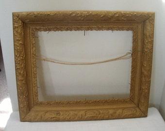 Antique Vintage Gold Gilt Gesso Picture Frame