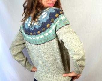 Vintage 1980s 80s Country Sheep Sweater