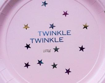 Twinkle little star Plates  - set of 10