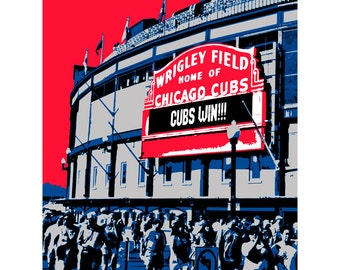 "BIG 24""x30"" Chicago Cubs Wrigley Baseball Poster Print"