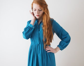 Ms Turquoise, Japanese vintage dress, small