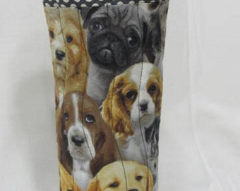 Puppies-Dogs- Wine Bag- Wine Tote- Wine Gift Bag-Gift Under 25-Cocktails-Hostess Gift