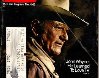 1972 TV Guide - John Wayne On Cover - Guide # 523 - VG Complete