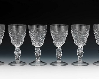 Heavy Cut Crystal Goblets Water Goblets Wine Goblets Royal Leerdam Crystal Stemware