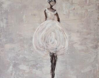 Ballerina Painting Figurative painting woman painting Angel woman Soft Grace Swalla Studio