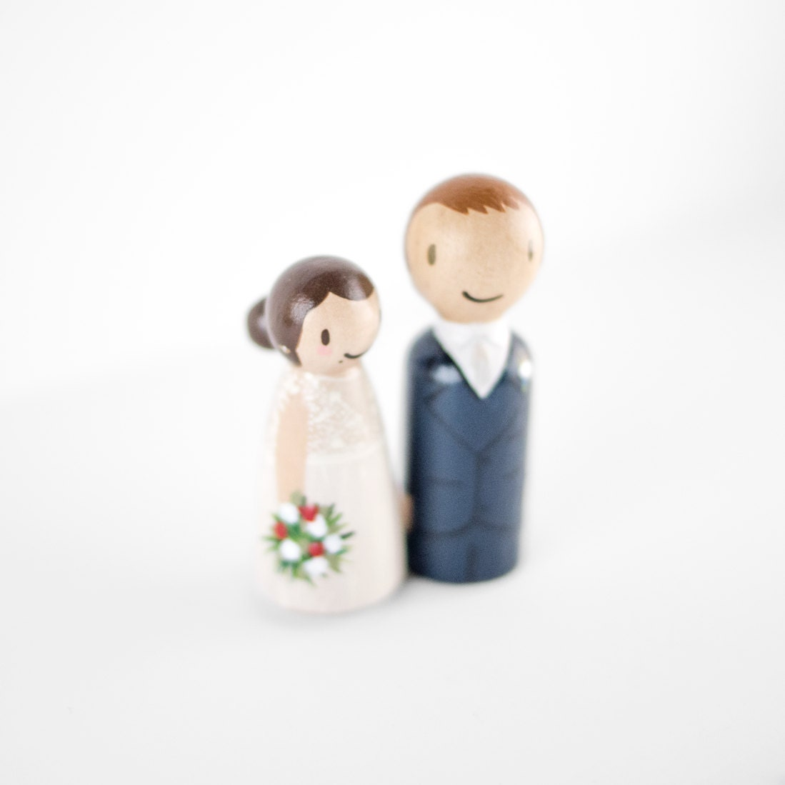 Personalized Bride and Groom Cake Topper couple wedding cake