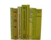 Yellow  Vintage Decorative  Books for Wedding Decor Home Decor Photography Prop