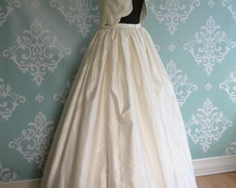 Crop Top Wedding Dress Two Piece, FORGET ME NOT, Silk Duchess Scallops