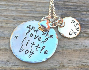 And She Loved A Little Boy, Mothers Day Gifts, Personalized Necklace, Shell Silverstein Inspired, natashaaloha