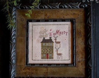 25% OFF Merry Brew : Plum Street Samplers counted cross stitch patterns Christmas December Winter hand embroidery