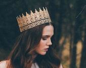 Jaden || full size gold lace crown || photography prop|| Child-Adult ||custom sizes|| WASHABLE || Love Crush Exclusive