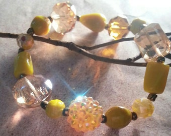 This Little Light of Mine Bracelet sunshine yellow sparkle