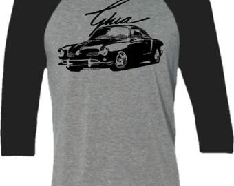 Retro Car Shirt-VW Karmann Ghia-Classic Car-Baseball tee shirt for him-Car gift