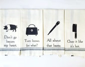Funny Kitchen Towels - Hand Towel - Funny Dish Towel - Dish Cloths - Funny Towels - Housewarming Gift - Wedding Gift - Hostess Gift