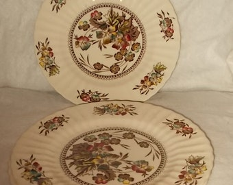 Wade England Meadow Dinner Plate Three Wade Meadow Dinner Plates Plates Vintage China Dinnerware Replacements