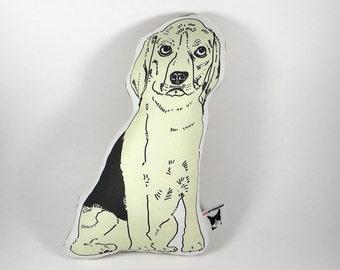 beagle stuffed animal - beagle dog pillow - beagle shaped pillow - beagle stuffed toy - dog plushie - beagle drawing pillow - funny beagle
