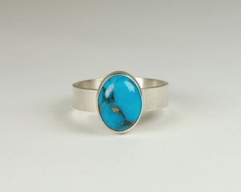 Turquoise Ring Artisan Ring Wide Band Ring Southwestern Jewelry Artisan Jewelry Turquoise Jewelry