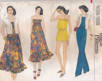 70s Jumpsuit, Dress & Jacket Pattern Vogue 7090 Size 12