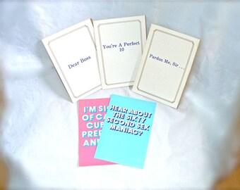 Vintage Silly Vulgar Greeting Cards 5 of Them,  1980s Unused Nice Price