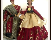 African American Art Dolls, Black History Month Home Decor, Black Doll Couple Valentine Love Token