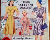 Vintage 1942 Australian Home Journal with 3 Patterns