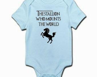 Game of Thrones Stallion Baby Boy Bodysuit / Game of Thrones Onesie / Game of Thrones Baby Clothes / Baby Boy Shower Gift / Game of Thrones