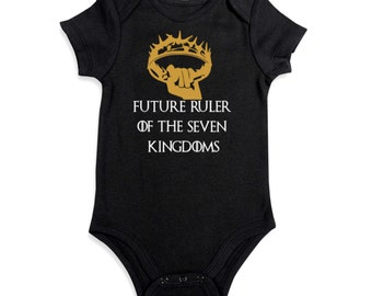 Game of Thrones Baby Onesie / Future Ruler Of The Seven Kingdoms / Game of Thrones Baby Clothing / Game Of thrones Bodysuit / Baby Shower