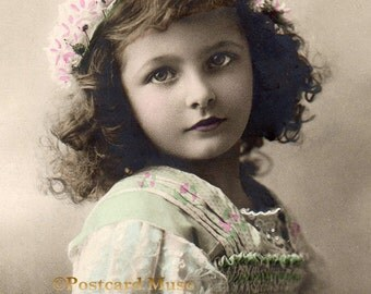 Edwardian Girl - New 4x6 Photo Print From A Vintage Postcard CE093
