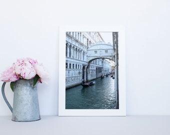 Venice photography print  -  Italy print, Venice canvas, Venice canal print