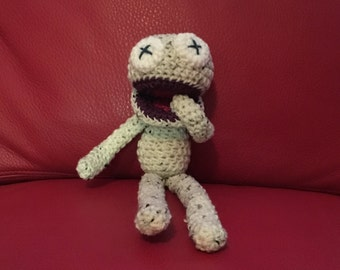 Crochet Monster Doll With Long Legs silly monster crochet toy stuffed doll