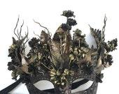 Black & Gold Fantasy Masquerade Mask