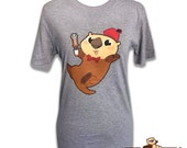 Otter Who Women's Tshirt in Gray or Black