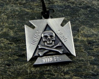 "Masonic Templar Cross ""in hoc signo vinces "" - made in Italy"