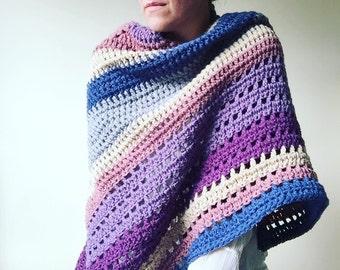 Autumn Storm: A Crochet shawl-wrap PDF Pattern