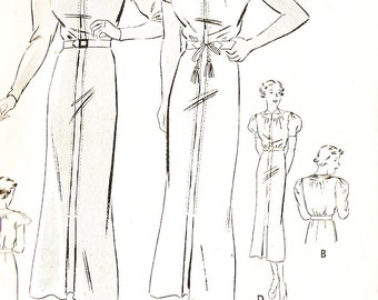Butterick 7017 Misses' Vintage 1930s Frock With Sleeve Variation Sewing Pattern