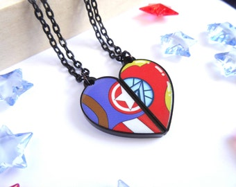 Ironman and Captain America BFF- Necklace Set