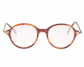 Hand made in Italy round retro 1940s style eyeglasses frames by Shopping, 1980s NOS