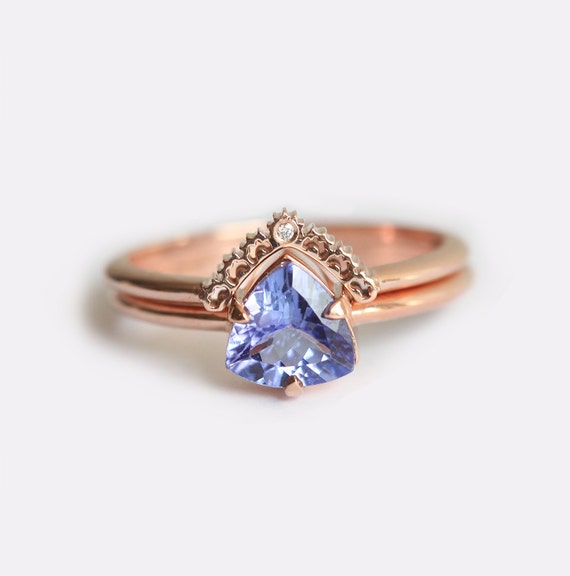 Rose Gold Engagement Ring Tanzanite Engagement Ring
