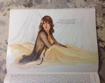 Original Alberto Vargas Playboy Pinup Print. June 1966.