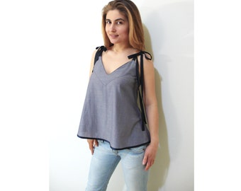 PDF Sewing Pattern Women's/Girl Summer Cotton/Linen Top sizes from 38 to 52 n.28